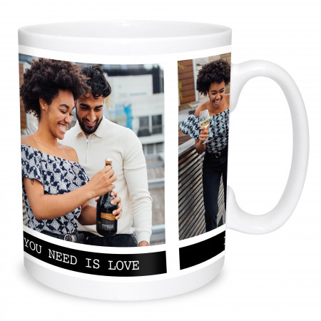 2 Photos and Text Mug