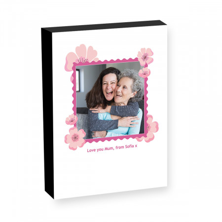 "10"" x 8"" Flower Stamp Photo block"
