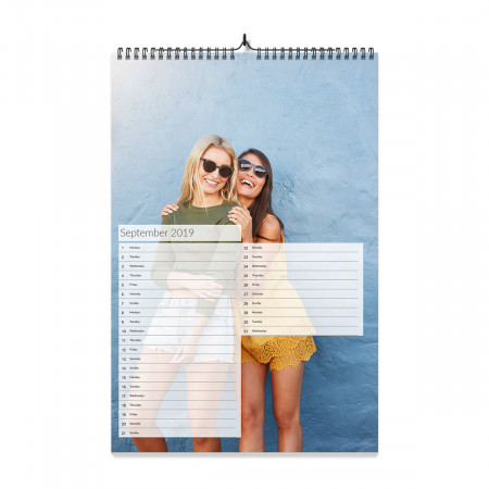 A4 Photo Calendar List Style