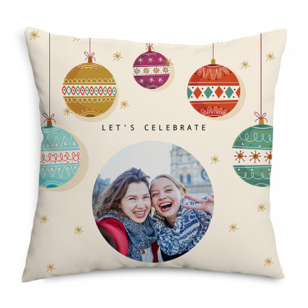 Baubles Christmas Cushion
