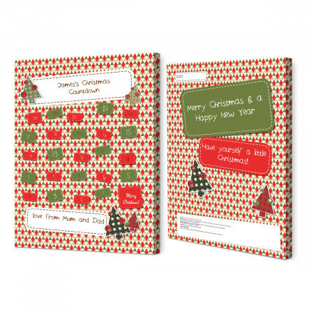 Christmas Countdown Calendar.Patterned Advent Calendar