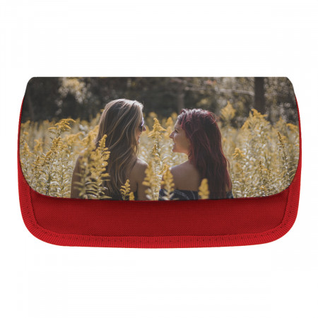 Black Personalised Pencil Case Front