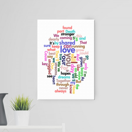 "20x30"" Word Cloud Canvas"