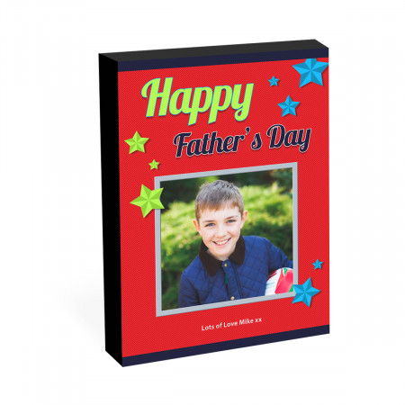 "8"" x 6"" Happy Father's Day Photo Block"