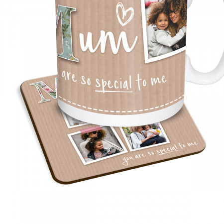 Mum Scrapbook Photos Coaster