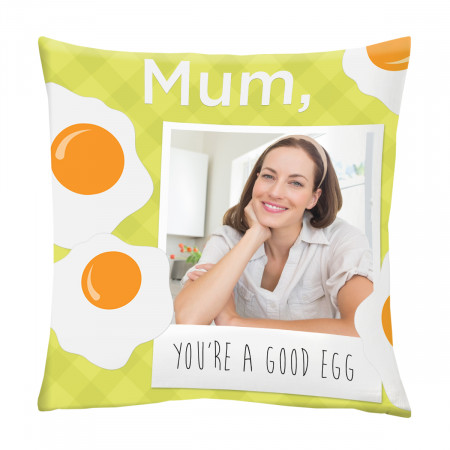 "24"" 'Good Egg' Mother's Day Canvas Square Cushion"