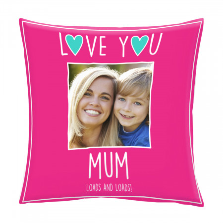 """24"""" 'Love You Mum' Mother's Day Canvas Square Cushion"""