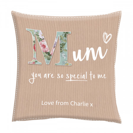 "24"" 'Mum Scrapbook' Canvas Square Cushion"