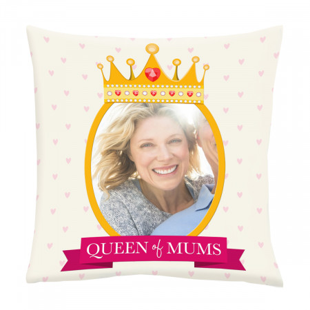 """24"""" 'Queen of mums' Canvas Square Cushion"""