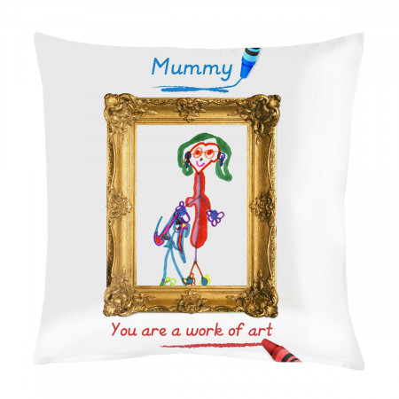 "24"" 'Work of Art' Canvas Square Cushion"