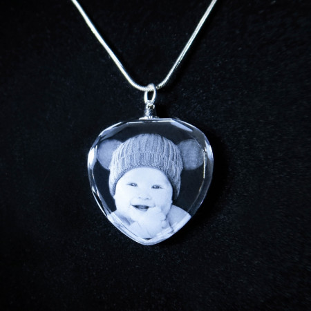 2D Photo Crystal Necklace