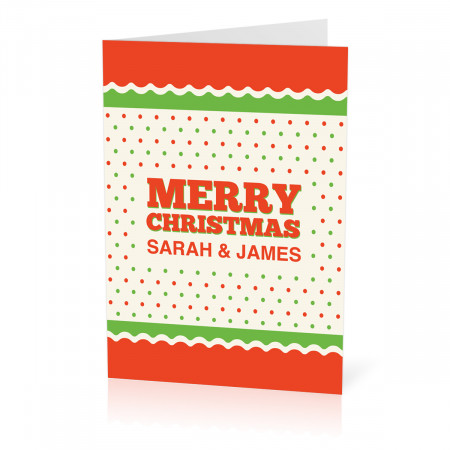 A5 Green & Orange Christmas Card