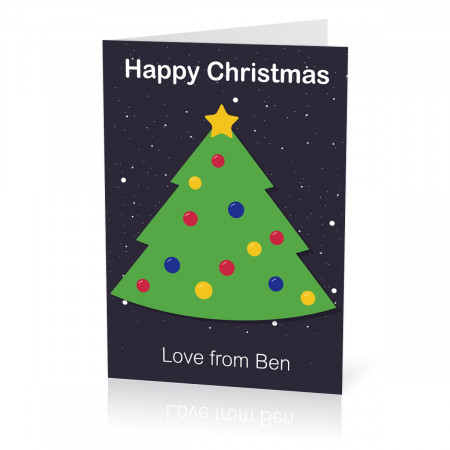 A5 Christmas Tree Card