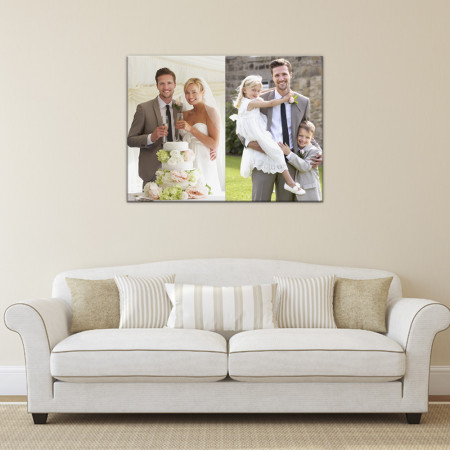 """20x16"""" 2 Image Collage Canvas"""