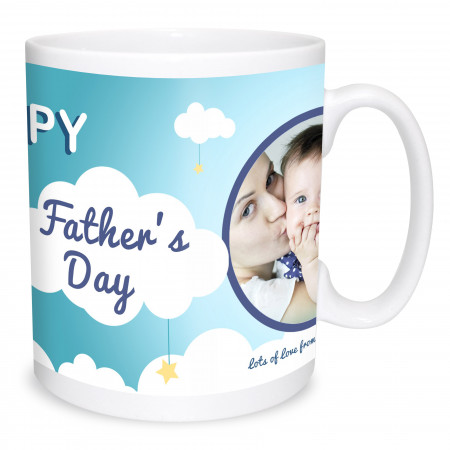 First Father's Day Photo Mug