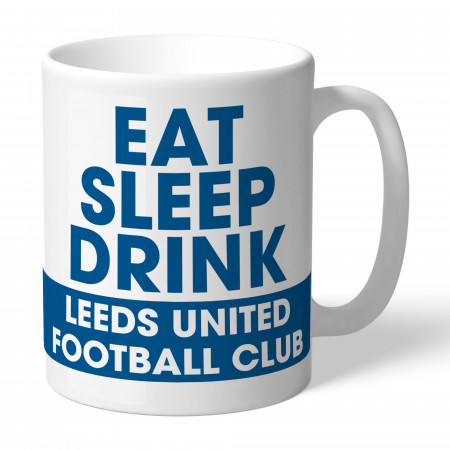 Leeds United FC Eat Sleep Drink Mug