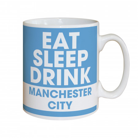 Manchester City FC Eat Sleep Drink Mug