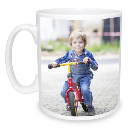 Photo Mug with Text & Image Left Aligned