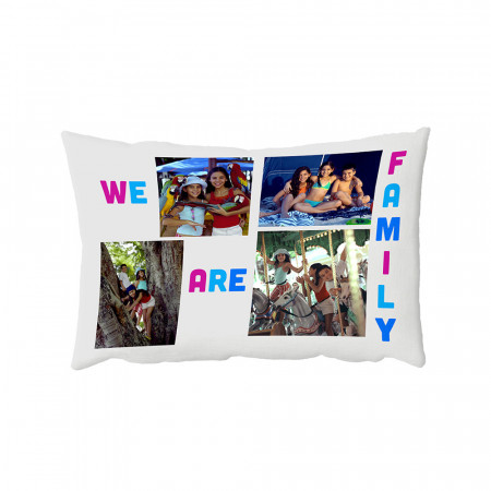 "13"" x 19"" We Are Family Oblong Photo Cushion"