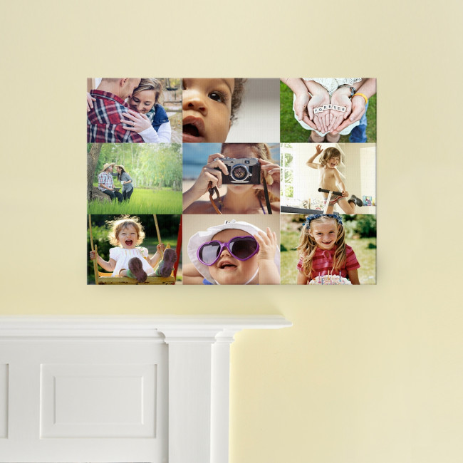 20x16 9 image collage canvas