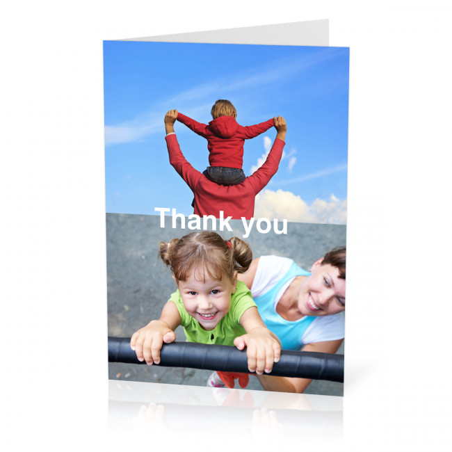 Thank You Photo Card With A 2 Image Collage (A5) From Max