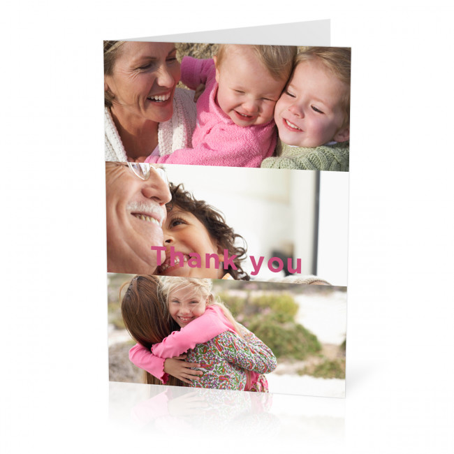 Thank You Photo Card With A 3 Image Collage A5 From Max Spielmann