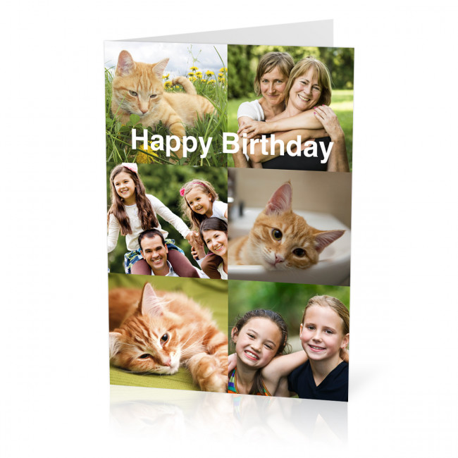 Birthday Photo Card With A 6 Image Collage A5 From Max Spielmann