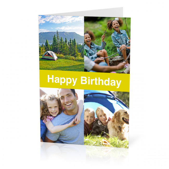 Birthday Photo Card Collage Banner A5