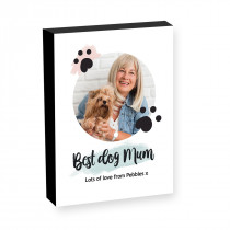 "10"" x 8"" Best Dog Mum Photo block"