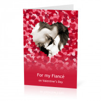 A5 Fiance Hearts Card