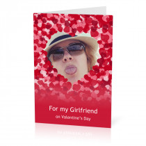 A5 Girlfriend Hearts Card
