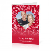 A5 Husband Hearts Card