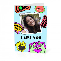 A5 I Like You Card