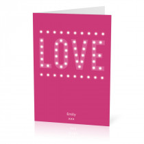 A5 Love Lights Card