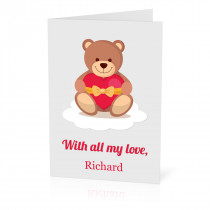A5 Teddy All My Love Card