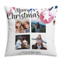 Collage Christmas Cushion