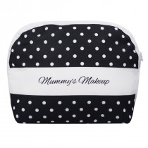 Black Polka Makeup Bag