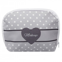 Heart Polka Makeup Bag