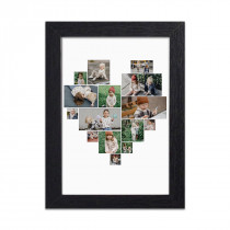 Heart Collage Harriet Black Print and Frame
