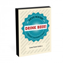 "8"" x 6"" Drink Beer Photo Block"