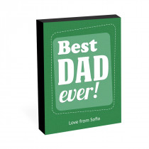 "8"" x 6"" Best Dad Ever Photo Block"