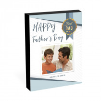 "8"" x 6"" Best Dad Photo Block"