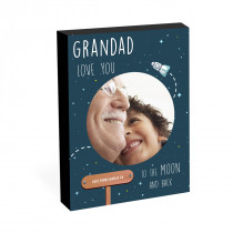 "8"" x 6"" Grandad Moon Photo Block"
