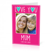 A5 Love You Mum Card
