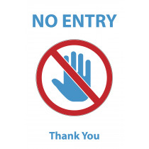 NO ENTRY COVID-19 POSTER 20X30""