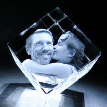 3D Medium Diamond Photo Crystal