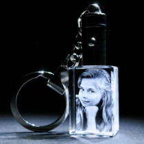 2D Keyring Photo Crystal