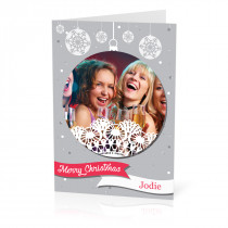 A5 Silver Ornament Christmas Card