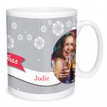 Silver Bauble Christmas Mug