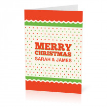 A5 Green and Orange Christmas Card